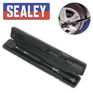 """Sealey Premier Black 1/2"""" Dr Socket Calibrated Micrometer Torque Wrench 27-204Nm"""