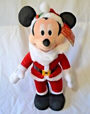 "Disney Santa Mickey Mouse Door Greeter Christmas Plush Decoration 23"" NWT"