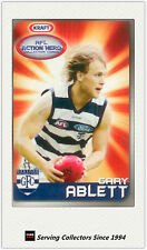 2007 Kraft Dairy AFL Action Heroes Card #8 Gary Ablett (Geelong)