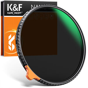 K&F Concept 49-82mm ND2-400 ND Filter Nano X Variable Neutral Density Ultra Slim