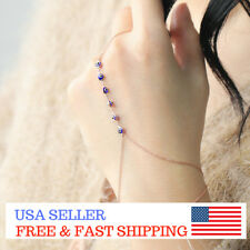 Evil Eye Slave Bracelet Hand Chain Finger Bracelet Sterling Silver USA Free Ship