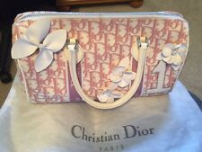 Christian Dior Pink and White Flower Boston Bag