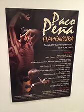 PACO PEÑA Flamencura 2014 Australia & New Zealand Tour Poster A2 NZ De Lucia NEW