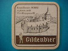 Belgian BEER COASTER ~ Brouwerij Haacht Gildenbier Dark Ale <> 1985 Kasteel Fest