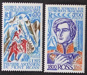 Z380 FSAT TAAF Fr. Southern Antarctic 1976 #64-65 James Ross, Mt Ross Mint NH