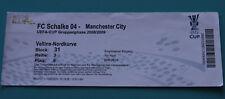 OLD TICKET EC3 Schalke 04 Germany Manchester City