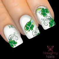 SHAMROCK CLOVER Saint Patricks Day Nail Water Transfer Decal Sticker Art Tattoo