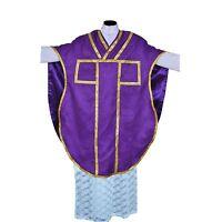 NEW Purple Chasuble St. Philip Neri Style vestment Stole & mass set 5 pc