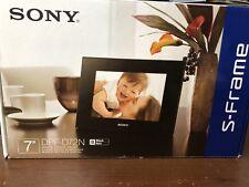 "Sony S-Frame 7"" Digital Photo Picture Frame Display Original Box DPF-D72N Black"