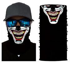 Skull Clown Face Shield Sun Mask Balaclava Neck Gaiter Bandana Neckerchief