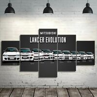 Lancer Evolution Car 5 Pieces Canvas Wall Art Poster Print Home Deco