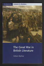 The Great War in British Literature by Adrian Barlow (Paperback, 2000)
