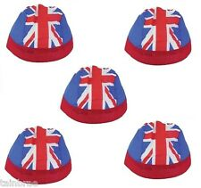 Bulk Buy 5 Fitted Union Jack Cotton Bandanas - Ideal for Party Bags