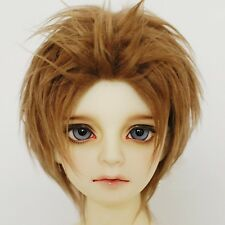 1/3 BJD SD Doll Wig Hair Boy Dark Brown DZ DOD LUTS Cool Short Straight Full Wig