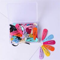 30pcs Cute Candy Color Paint Hair Snap Clip Hairpin Barrette for Kids Gift