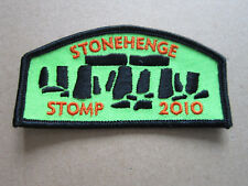 Stonehenge Stomp 2010 Walking Hiking Cloth Patch Badge (L3K)
