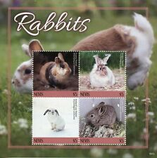 More details for nevis rabbits stamps 2019 mnh pygmy angora holland lop rabbit animals 4v m/s