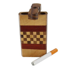 Smoking Travel Wooden Cigarette Check Mate Tobacco Case