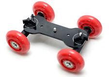 DSLR Camera Truck Wheel Stabiliser Table Top Compact Dolly car Rig Film Skater