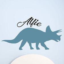 Children Kids Boys Triceratops Dinosaur Name Custom Personalised Wall Sticker