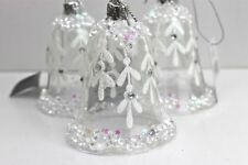 Glass Bell Christmas Tree Ornaments