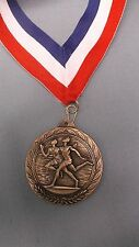 "gold medal weavyweight 2 1/2"" diameter male track wide patriotic drape"