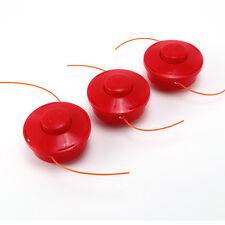 Universal Unit Replacement Spare Strimmer Spool Head Assembly Kit - 3pcs Orange