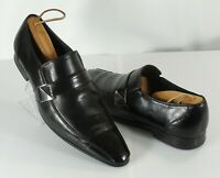 Mens English Laundry Harold Black Leather Slip-On Loafers Shoes Size 10 D