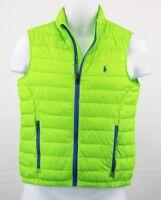 NWT Polo Ralph Lauren Quilted Horizon GREEN  Vest size 6 kids RL1