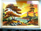 SEA LANDSCAPE -  PICTURE with BALTIC AMBER a sea - from a tree a frame