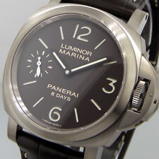 UNWORN PANERAI PAM 564  LUMINOR MARINA 8 DAYS TITANIO BROWN DIAL 44 mm PAM 00564