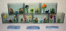 Restposten - 12 kleine Deko-Aquarien mit kleiner Glasdeko und Glasfischen