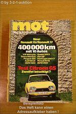 MOT 15/71Citroen GS BMW 3,0 Renault 15 17 Ford Capri