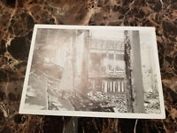 1938 Berlin Germany Postcard Cover Eternal Jew Cancel Reichstag Fire Ruins Photo
