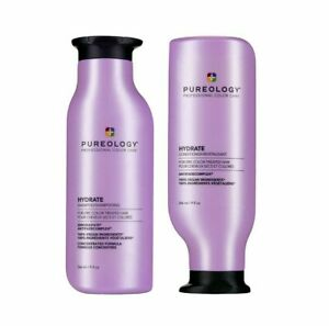 Pureology Hydrate Shampoo and Conditioner Duo Set 9 OZ EACH NEW BOTTLE DESIGN