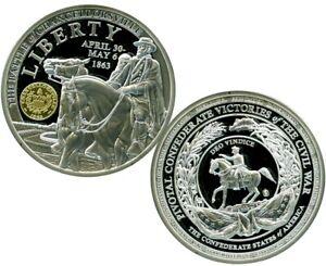 BATTLE OF CHANCELLORSVILLE COMMEMORATIVE COIN PROOF VALUE $99.95
