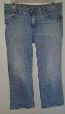 Women's Capris Sz 4 Polo Jeans Company Ralph Lauren Stretch Low Medium Wash Blue