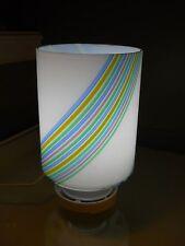 Italian gLASS Modern mID cENTURY Lamp by F Fabbian Italy tABLE LAMPADARI