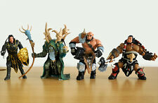 4pcs Wow World Of Warcraft Durotan Anduin Lothar Doomhammer Action Figure Toys