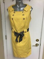 Etcetera Bright Yellow Lucent Dress size 14