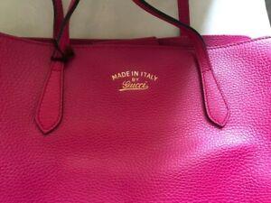 borsa gucci donna grande , nuova colore rosa.