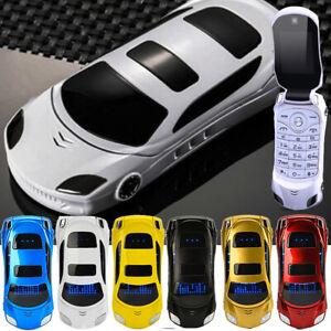 Mini Flip Car Mobile Phone F15 Unlocked Sports Dual Sim BT Phones With LED