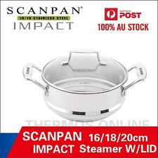Scanpan Impact Steamer With Lid 16/18/20cm