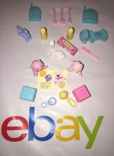 2000 Mattel Barbie Baby Nursery Room Accessories Bundle 18 Pc For Doll House #15