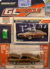 BRONZE 1971 PONTIAC GTO JUDGE GREENLIGHT 1:64 SCALE DIECAST METAL MODEL CAR