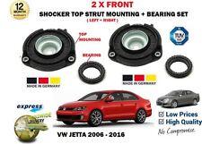 FOR VW JETTA 2006-2016 2X FRONT SHOCKER TOP STRUT MOUNTINGS + BEARING
