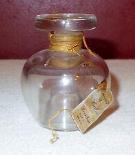 Vintage Revillon CARNET De BAL Glass PERFUME BOTTLE Paris France w/Tag Empty ^