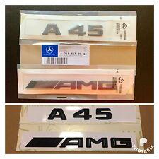 New Mercedes A45 AMG Badge Emblem Decals New Style Gloss Black Uk Seller 🇬🇧