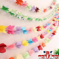 UK Paper Flower Garland Buntings Wedding Party Birthday Banner Hanging Decor