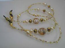 Spectacle/Glasses/Eyewear Beaded Chain  - Caramel Gold